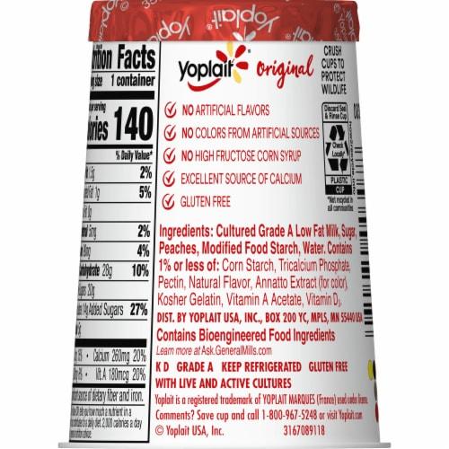 Yoplait Gluten Free Original Harvest Peach Low Fat Yogurt Perspective: right