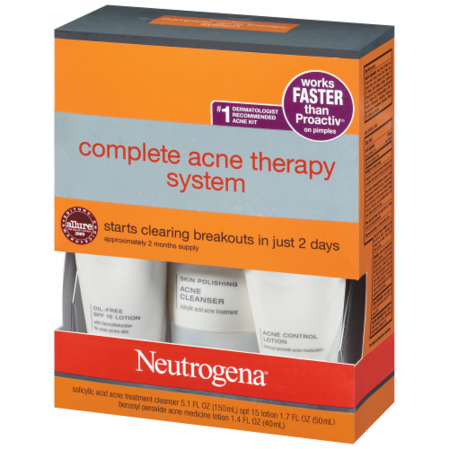 Neutrogena Complete Acne Therapy System Perspective: right