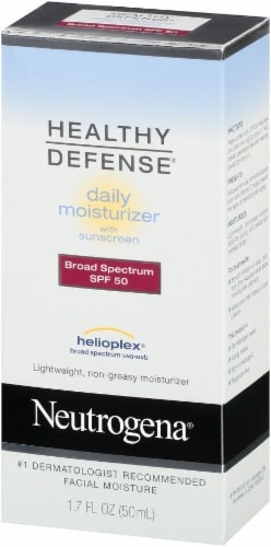 Neutrogena Healthy Defense Daily Moisturizer Sunscreen SPF 50 Perspective: right