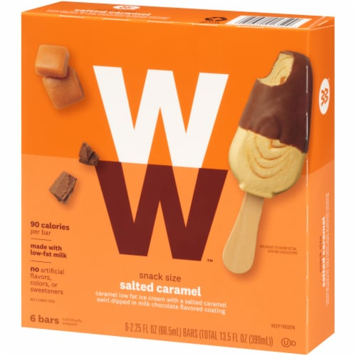 Weight Watchers Salted Caramel Ice Cream Bars Perspective: right