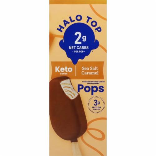 Halo Top Keto Sea Salt Caramel Ice Cream Pops Perspective: right