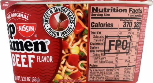 Nissin® Top Ramen® Beef Flavor Ramen Noodles Perspective: right
