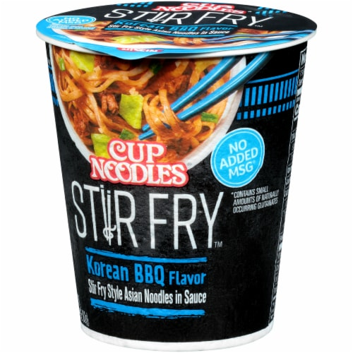 Nissin® Cup Noodles® Stir Fry Korean BBQ Flavor Asian Noodles Perspective: right