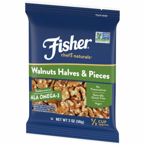 Fisher Chef's Naturals Walnuts Halves & Pieces Perspective: right