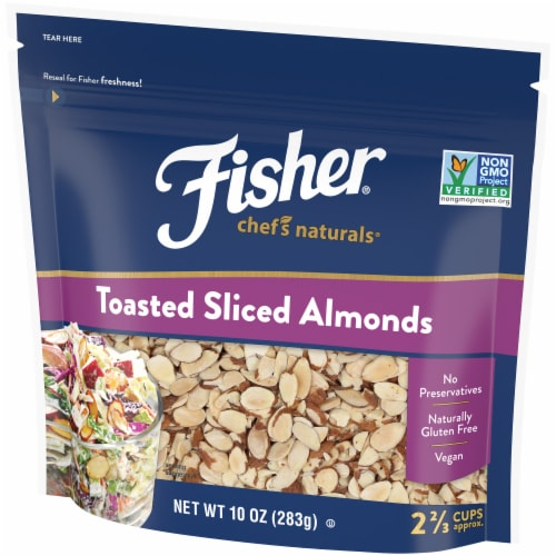 Fisher Chef's Naturals Toasted Sliced Almonds Perspective: right