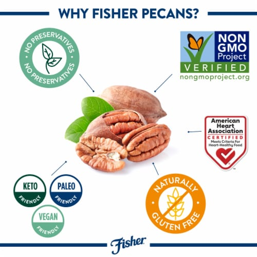 Fisher Chef's Naturals Pecan Halves Perspective: right