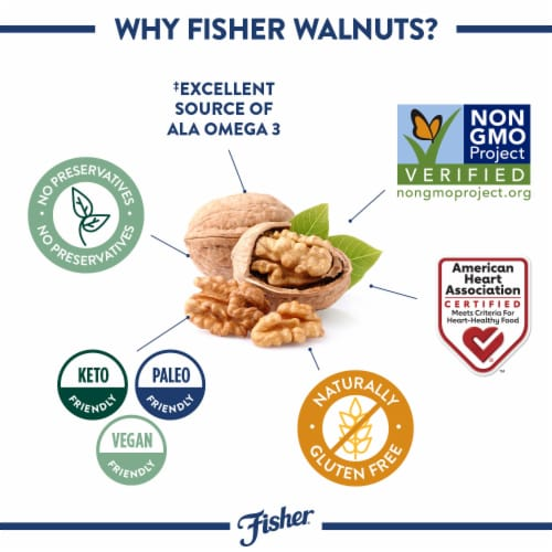 Fisher Chef's Naturals Walnut Halves & Pieces Perspective: right