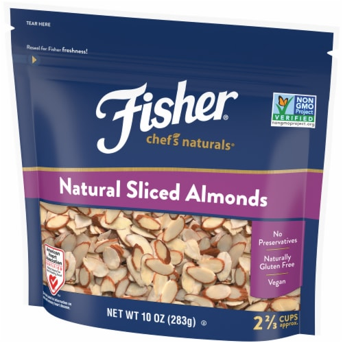 Fisher Chef's Naturals Natural Sliced Almonds Perspective: right