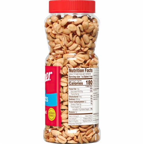 Fisher Dry Roasted Sea Salt Peanuts Perspective: right