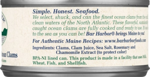 Bar Harbor Whole Gourmet Ocean Clams Perspective: right
