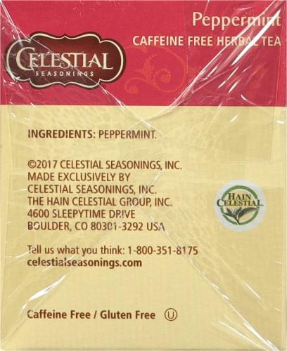 Celestial Seasonings Peppermint Herbal Tea Bags Perspective: right