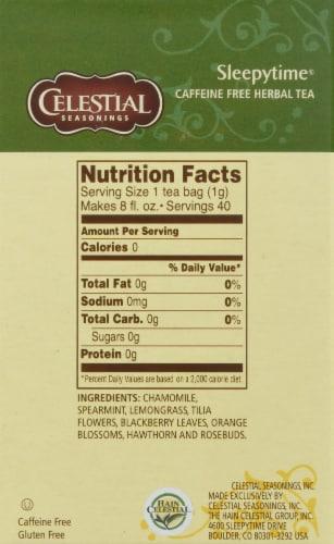 Sleepytime Celestial Seasonings Caffeine Free Herbal Tea Perspective: right