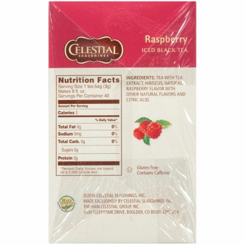 Celestial Seasonings Cool Brew Raspberry Iced Black Tea Bags Perspective: right