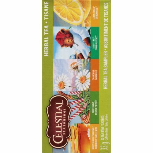 Celestial Seasonings Herbal Tea Bag Sampler Perspective: right