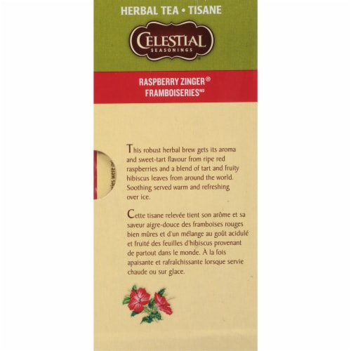 Celestial Seasonings Raspberry Zinger Herbal Tea Bags Perspective: right