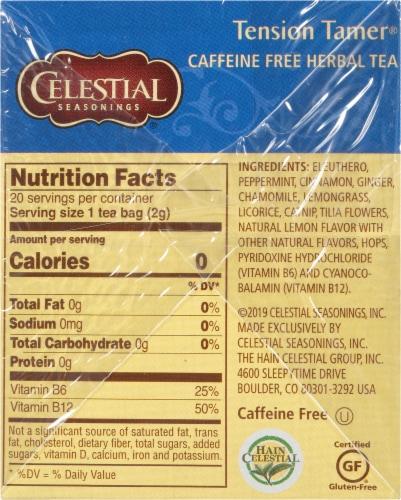 Celestial Seasonings Tension Tamer Herbal Tea Perspective: right