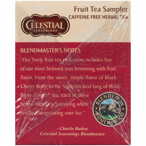 Celestial Seasonings Herbal Fruit Tea Sampler Tea Bags Perspective: right