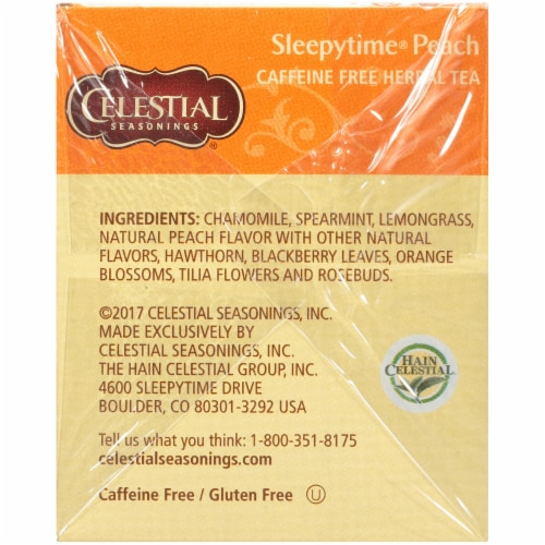 Celestial Seasonings Sleepytime Peach Herbal Tea Bags Perspective: right