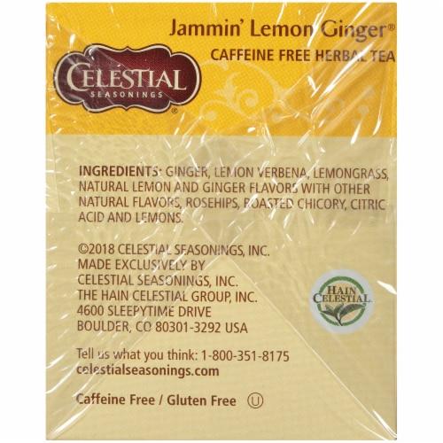 Celestial Seasonings Jammin' Lemon Ginger Tea Perspective: right