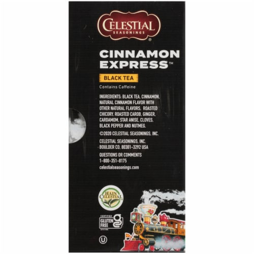 Celestial Seasonings Cinnamon Express Black Tea Bags Perspective: right