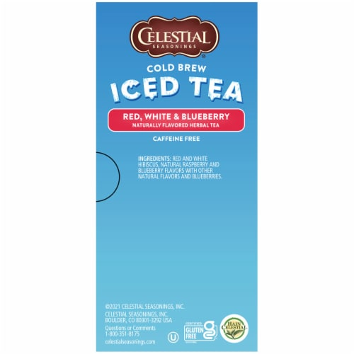 Celestial Seasonings® Red White and Blueberry Cold Brew Iced Tea Perspective: right
