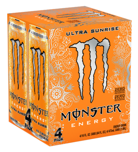 Monster Ultra Sunrise Energy Drink Perspective: right
