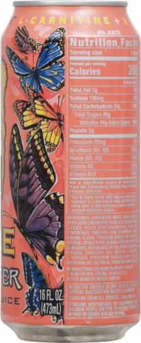 Monster Juice Papillon Energy Drink Perspective: right