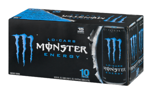 Monster Lo-Carb Energy Drink Perspective: right