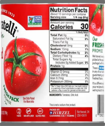 Dei Fratelli Crushed Tomatoes Perspective: right