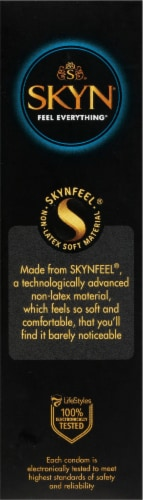 LifeStyles Skyn Extra Lubricated Non-Latex Condoms Perspective: right