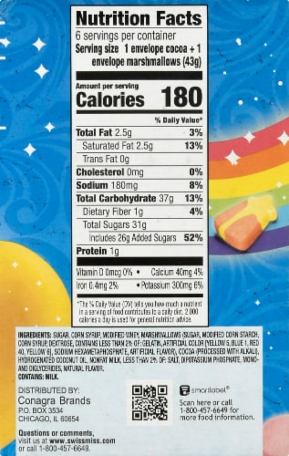 Swiss Miss® Milk Chocolate Hot Cocoa Mix with Lucky Charms Marshmallows Perspective: right