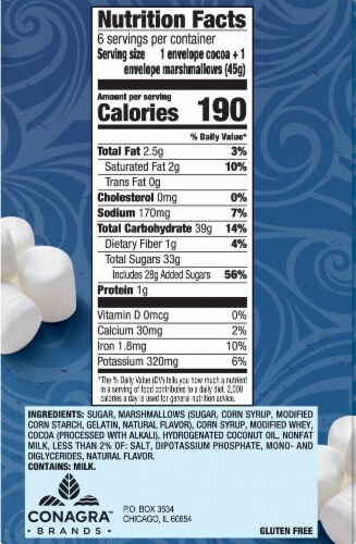 Swiss Miss® Marshmallow Lovers Hot Cocoa Mix Perspective: right