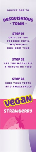 My/Mo Non-Dairy Strawberry Mochi Cashew Cream Frozen Dessert Perspective: right