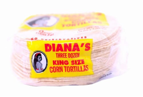 Diana's King Size Three Dozen Yellow Corn Tortillas Perspective: right