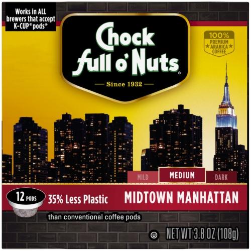 Chock full o'Nuts Midtown Manhattan Medium Roast Single-Serve Pods Perspective: right
