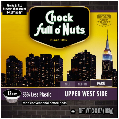 Chock full o'Nuts Upper West Side Dark Roast Single-Serve Coffee Pods Perspective: right