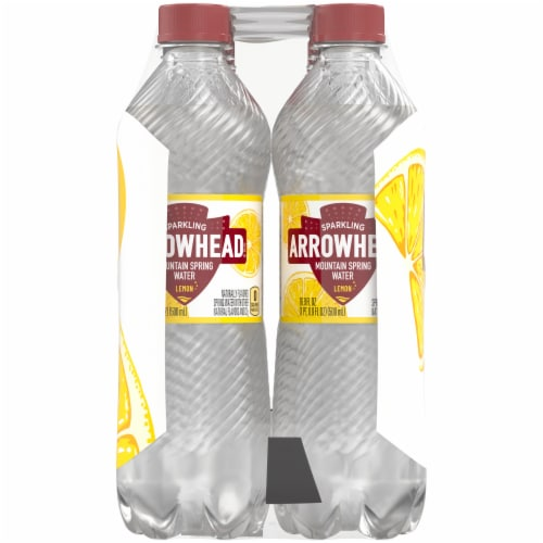 Arrowhead Lemon Sparkling Mountain Spring Water Perspective: right