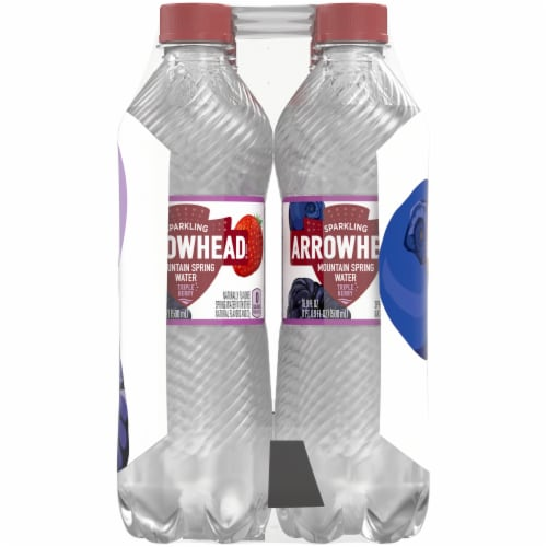 Arrowhead Triple Berry Sparkling Mountain Spring Water Perspective: right