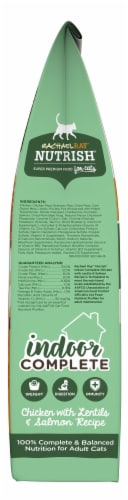 Rachael Ray Nutrish Indoor Complete Chicken With Lentils & Salmon Dry Cat Food Perspective: right