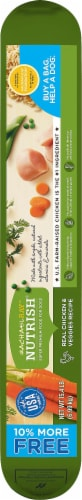 Rachael Ray Nutrish Real Chicken & Veggies Recipe Dry Dog Food Perspective: right