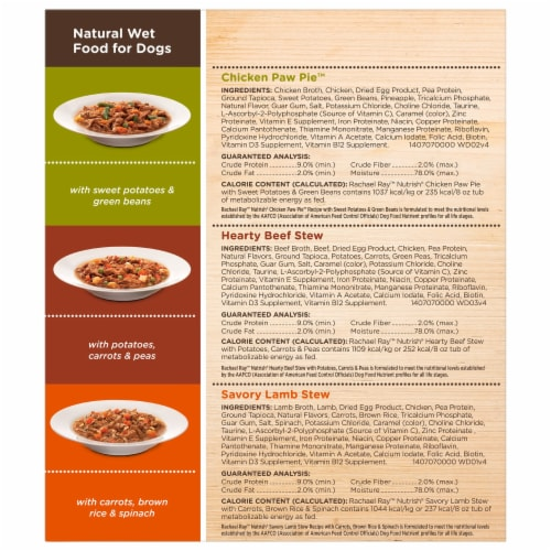 Rachael Ray Nutrish Natural Healthy Recipes Wet Dog Food Variety Pack Perspective: right