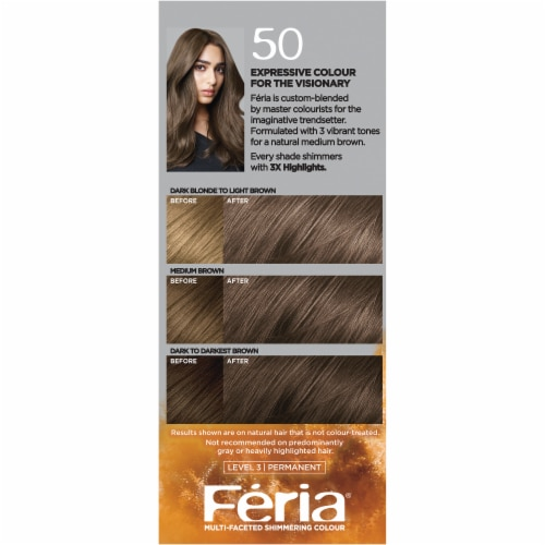 L'Oreal Paris Feria 50 Medium Brown Haircolor Gel Perspective: right