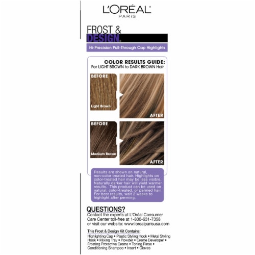 L'Oreal Paris Frost & Design H65 Caramel Hair Color Perspective: right
