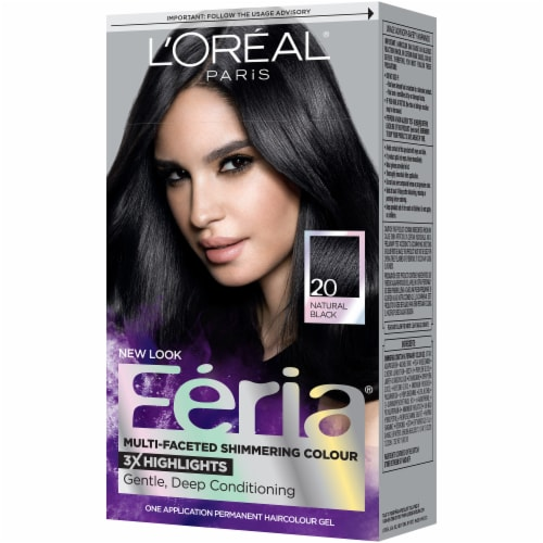 L'Oreal Paris Feria 20 Natural Black Hair Color Perspective: right