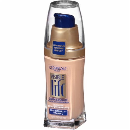 L'Oreal Paris Visible Lift Nude Beige Serum Absolute Foundation Perspective: right