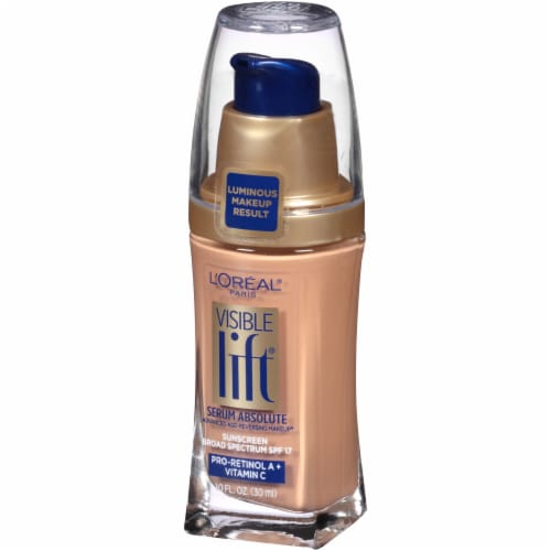 L'Oreal Paris Visible Lift Buff Beige Serum Absolute Foundation Perspective: right