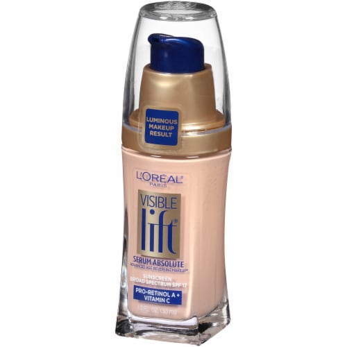 L'Oreal Paris Visible Lift Soft Ivory Serum Absolute Foundation Perspective: right