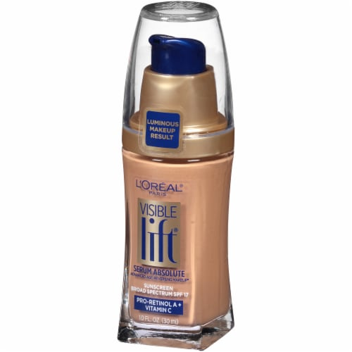 L'Oreal Paris Visible Lift Sun Beige Serum Absolute Foundation Perspective: right