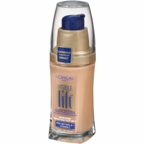 L'Oreal Paris Visible Lift Natural Buff Serum Absolute Foundation Perspective: right
