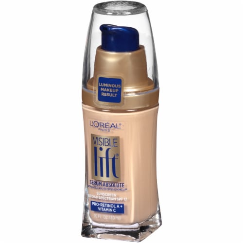 L'Oreal Paris Visible Lift Light Ivory Serum Absolute Foundation Perspective: right